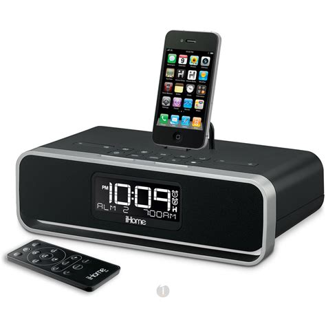 i home ihome id91 dual alarm stereo clock radio dock for ipad