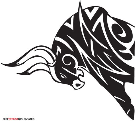 tribal ox tattoo bull images designs