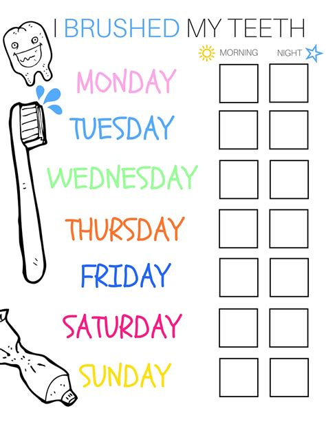 5 ways to use free printables to get organized in 2015 5 ways to get your toddler to brush their teeth a free