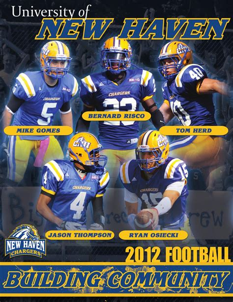unh chargers football 2012 new football media guide by new chargers