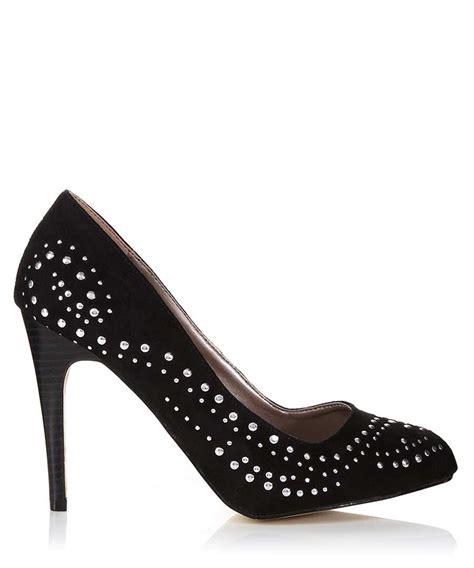 New Heels Silver Black discount black silver studded high heels secretsales