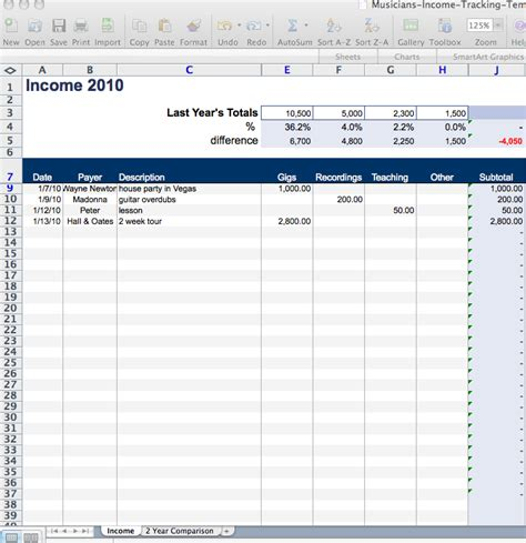 rental income spreadsheet template landlord income and expenses excel spreadsheets best