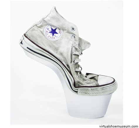 converse all high heels high heel converse all virtualshoemuseum