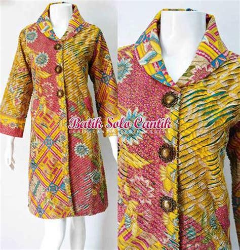 Atasan Blouse Muslim Wanita Dress Bagus Modern Ah00033 Murah Grosir dress batik model cacah terbaru baju kerja batik