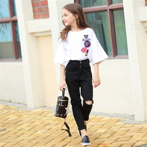 kids clothes  fashion flare sleeve summer style teen