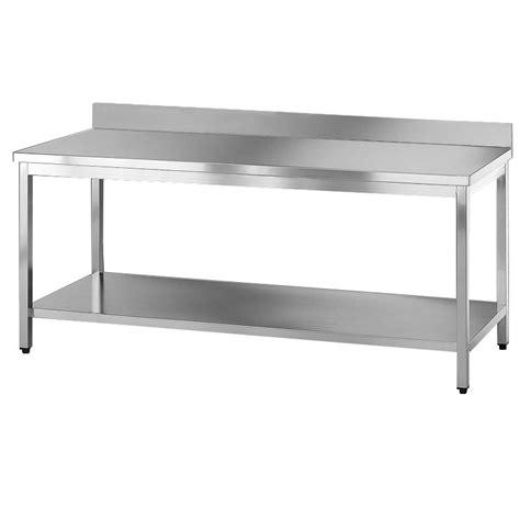 tavoli acciaio inox professionali tavolo acciaio inox professionale con ripiano e alzatina