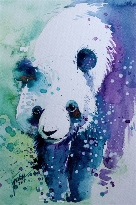 colorful splashed watercolor animals paintings fubiz media