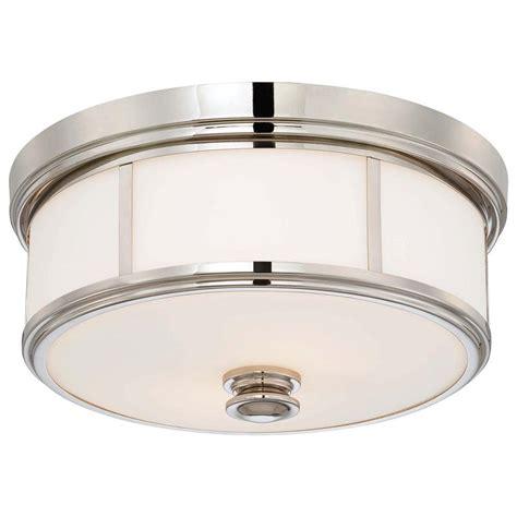 polished nickel flush mount ceiling light minka lavery 2 light polished nickel flushmount 4365 613