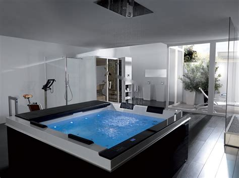 luxury spa bathroom designs high tech luxury spa tubs pacific from systempool digsdigs
