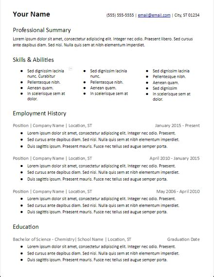 Skill Based Resume Template by Skills Based Resume Templates Free To