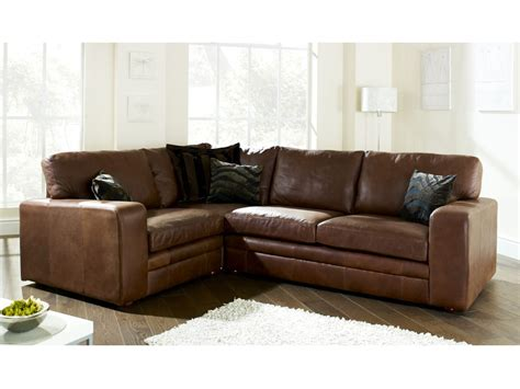 brown leather corner sofa the sofa company