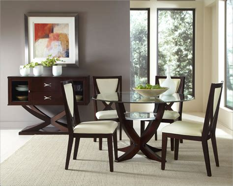 glass dining room table sets contemporary kitchen decor with 5 versailles dining table set on a budget glass top