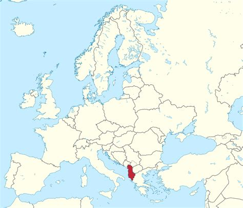 where is albania on the map albania world map location