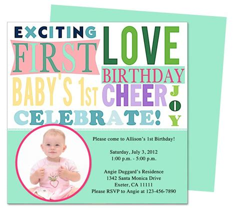 Apple Pages Templates Birthday Cards by Baby Talk 1st Birthday Invitation Templates Easy To