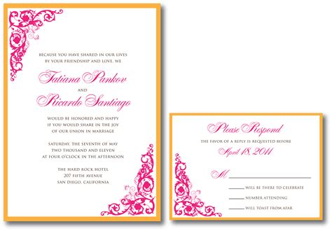 Pink Invitations Wedding by Pink Wedding Invitation A Vibrant Wedding