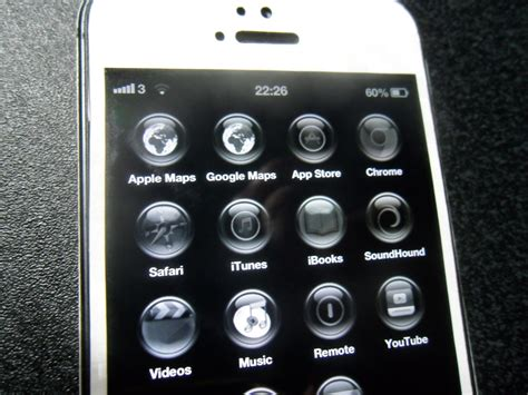 black themes for iphone 5 black orb theme running on iphone 5 no jailbreak gottotech