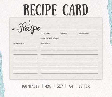 Chef Recipe Card Template by Recipe Templates Archives Creativetacos