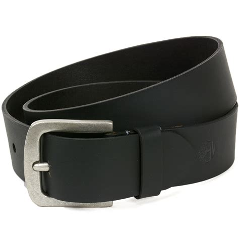 timberland mens leather belt durable classic rugged metal