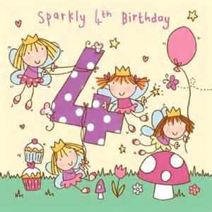 4 sparkly 4th birthday handfinished 4th birthday card 163 2 40 a great range of 4 sparkly 4th
