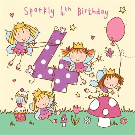 4th Birthday Card 4 Sparkly 4th Birthday Handfinished 4th Birthday Card 163 2
