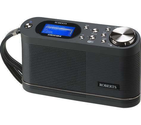 buy roberts stream  portable dabfm smart radio black  delivery currys