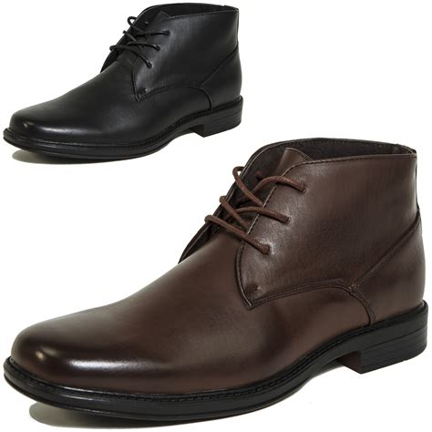 mens leather boots casual alpine swiss mens ankle boots dressy casual leather lined