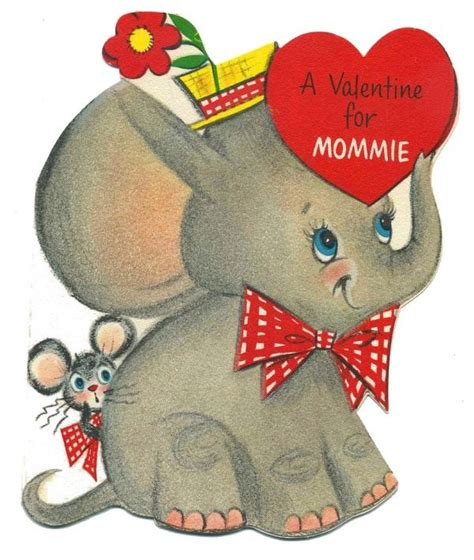 valentines elephant 106 best images about vintage elephant cards on