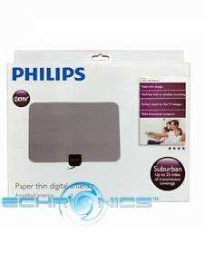 philips sdv5231 paper thin lified digital tv antenna noise reduction ebay