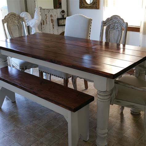 farmhouse dining table and bench farmhouse dining table with bench