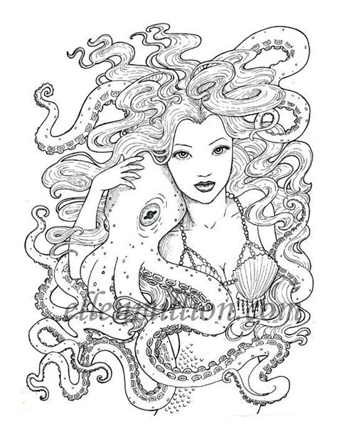 mermaids are salty b ches a coloring book for juvenile adults books friends beautiful mermaid octopus digi st