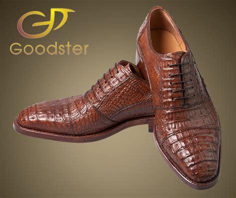 Custom Handmade Shoes - the high end oxfords genuine crocodile shoes goodster
