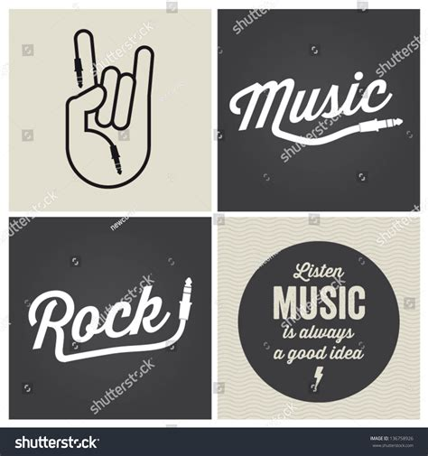 design elements type music design elements with font type and illustration