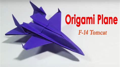 Origami F 14 - how to make origami airplane how to make paper plane