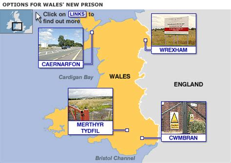 map uk prisons prisons in wales