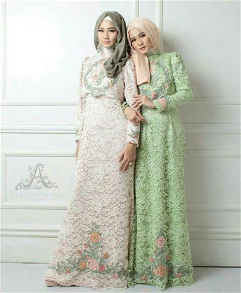 Setelan Abaya Muslim Kebaya Pesta model baju gamis brukat brokat terbaru setelan modis