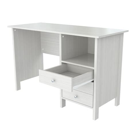 White Company Desk by Walker Edison Furniture Company Home Office 48 In Glass