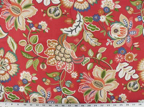 jacobean upholstery fabric drapery upholstery fabric indoor outdoor jacobean floral red multi ebay