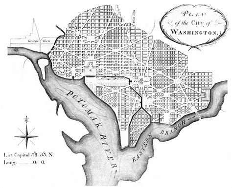 washington dc city layout map file l enfant plan jpg