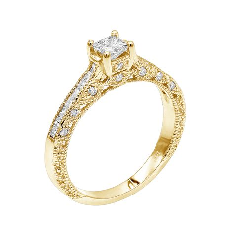 14k gold unique engagement ring 1 10ct