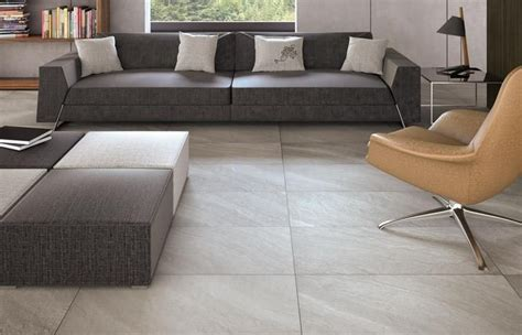 tile flooring in living room make a statement with large floor tiles