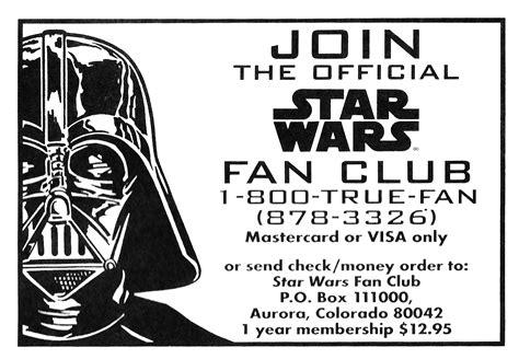 star wars fan club star wars fan club offer from 1996