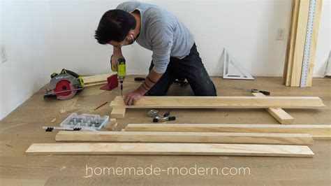 modern ep118 diy plywood shelves with smart home tech