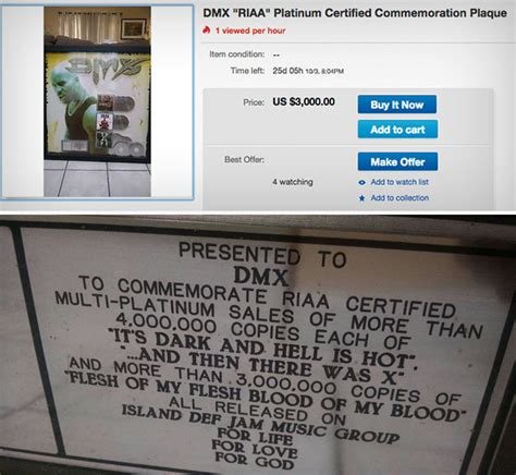 Dmx Criminal Record Dmx S Xavier Is Selling His Platinum Records Without