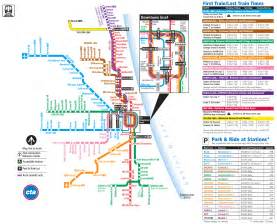 Chicago Metro Map by Chicago Metro System Map Mapsof Net
