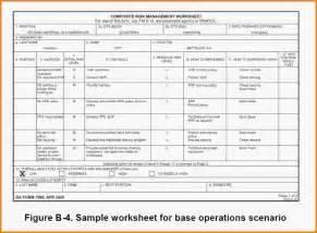 activity risk assessment template composite risk management worksheet worksheets