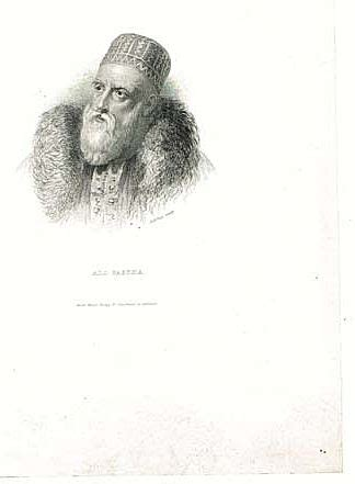 ottoman ruler the lion ali pasha turkish ruler antique engraving 19 ct from