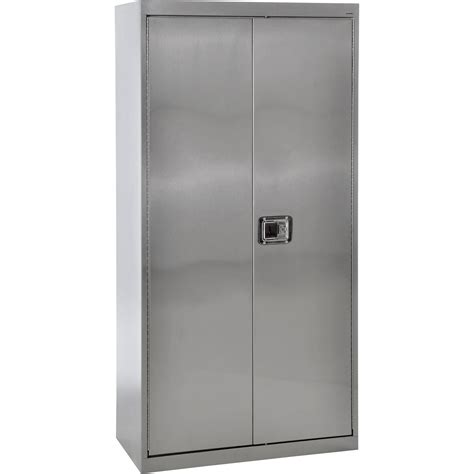 Steel Storage Cabinets Sandusky Buddy Stainless Steel Storage Cabinet 36in W X 18in D X 72in H Model Sa4d361872 Xx