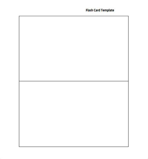 Flash Card Templates by Sle Flash Card 12 Documents In Pdf