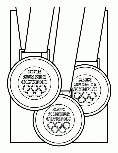 olympic medal coloring page coloring home