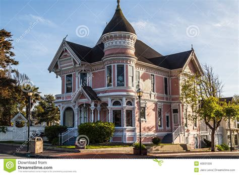 bed and breakfast eureka ca pink victorian house editorial photo image 40931056